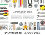 set of tools on white... | Shutterstock . vector #270891488