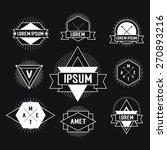 black and white hipster logo.... | Shutterstock .eps vector #270893216