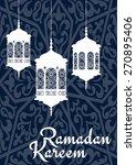 ramadan mubarak greeting card... | Shutterstock .eps vector #270895406