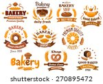 bakery shop emblem designs... | Shutterstock .eps vector #270895472