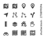 map editing icon set  vector... | Shutterstock .eps vector #270899096