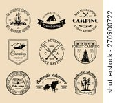 vector set of vintage camping... | Shutterstock .eps vector #270900722