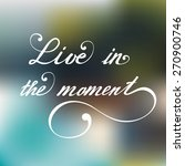 live in the moment. vector hand ... | Shutterstock .eps vector #270900746