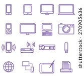 gadgets and technology icons... | Shutterstock .eps vector #270905636
