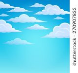 clouds on sky theme 1   eps10... | Shutterstock .eps vector #270907832