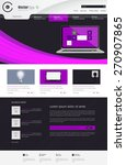 modern website template. vector ... | Shutterstock .eps vector #270907865
