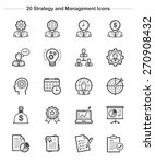 strategy and management icons... | Shutterstock .eps vector #270908432