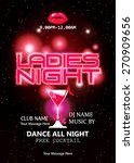 ladies night party celebration... | Shutterstock .eps vector #270909656