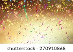 background with confetti and... | Shutterstock .eps vector #270910868