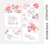 invitation card with watercolor ... | Shutterstock .eps vector #270914792
