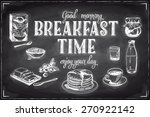 vector hand drawn breakfast and ... | Shutterstock .eps vector #270922142