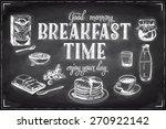 vector hand drawn breakfast and ... | Shutterstock .eps vector #270922142