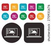 computer icon. graphic icon | Shutterstock .eps vector #270931676