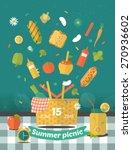 vector family picnic glade... | Shutterstock .eps vector #270936602