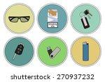 men's bag contents. sunglasses  ... | Shutterstock .eps vector #270937232