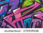 beautiful street art graffiti.... | Shutterstock . vector #270939038