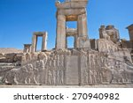 ruins of ancient palace with... | Shutterstock . vector #270940982