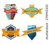 set of various design retro... | Shutterstock . vector #270942332