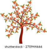 tree vector  flower tree   Shutterstock .eps vector #270944666