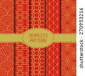 set of geometric national... | Shutterstock .eps vector #270953216