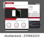 vector flyer  brochure ... | Shutterstock .eps vector #270962315