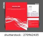 vector flyer  brochure ... | Shutterstock .eps vector #270962435