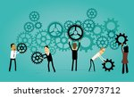 group of cartoon business... | Shutterstock .eps vector #270973712
