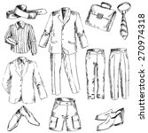 set of business clothes for men.... | Shutterstock .eps vector #270974318