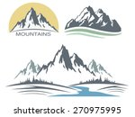 abstract high mountain icon set | Shutterstock .eps vector #270975995