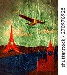 Retro Air Plane Fly From Paris...