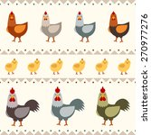funny hen  rooster and chicken... | Shutterstock .eps vector #270977276