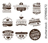 set of vector coffee elements.... | Shutterstock .eps vector #270980672