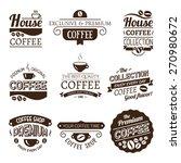 set of vector coffee elements....   Shutterstock .eps vector #270980672