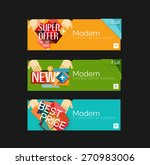set of banners with stickers ... | Shutterstock .eps vector #270983006