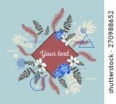 beautiful flower background art ... | Shutterstock .eps vector #270988652