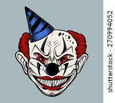 cartoon scary evil clown in a... | Shutterstock .eps vector #270994052