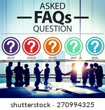 frequently asked questions faq... | Shutterstock . vector #270994325