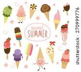 vector ice cream  sweet... | Shutterstock .eps vector #270999776