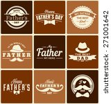 happy father's day label... | Shutterstock .eps vector #271001642