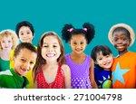 diversity children friendship... | Shutterstock . vector #271004798