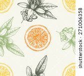 vector seamless pattern with... | Shutterstock .eps vector #271006358