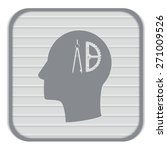 vector icon head think... | Shutterstock .eps vector #271009526