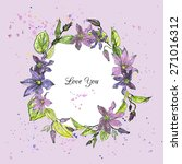 vector floral frame colored by... | Shutterstock .eps vector #271016312