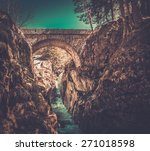 Bridge Over Fast River In...