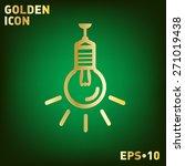 lightbulb sign. character ideas....   Shutterstock .eps vector #271019438