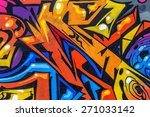 beautiful street art graffiti.... | Shutterstock . vector #271033142