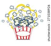 illustration popcorn in striped ... | Shutterstock .eps vector #271038926
