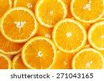 sliced orange background | Shutterstock . vector #271043165