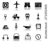 travel icons set  vector. | Shutterstock .eps vector #271052405