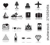 love   wedding icons set ... | Shutterstock .eps vector #271052456